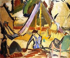 """huariqueje: """" Summer Camp - Vanessa Bell 1913 British 1879-1961 Bloomsbury Group Bryan Ferry Collection """""""
