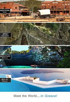 Global Greek World: We ♥ Greece. For and about Greeks all over the world - from Auckland to Zanzibar, from Aruba to Zimbabwe. Places Around The World, Oh The Places You'll Go, Around The Worlds, Life Is Beautiful, Beautiful Places, Classical Greece, Paradise On Earth, Thessaloniki, Greece Travel
