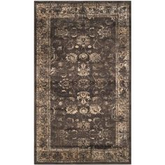 Vintage Soft Anthracite 2 ft. 7 in. x 4 ft. Area Rug