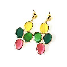 Nuevos colores fluor en los pendientes art 4 alegres y favorecedores. En www.casildafinatmc.com #earings #pendientes #joyitas #jewels #jewellery #invitadaperfecta #compraennuestraweb