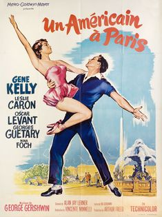 Directed by Vincente Minnelli. With Gene Kelly, Leslie Caron, Oscar Levant, Georges Guétary. Three friends struggle to find work in Paris. Things become more complicated when two of them fall in love with the same woman. Gene Kelly, Classic Movie Posters, Classic Movies, Film Posters, Music Posters, Great Films, Good Movies, Paris Movie, Popcorn