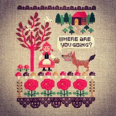 Amazing little red ridinghood cross stitch.
