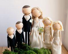 Rustic gâteaux de mariage, Wedding Cake Topper, Topper en bois, poupée Peg en bois, cadeau de mariage, personnalisé, gâteaux de mariage Boho