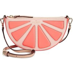 kate spade new york Grapefruit Slice Crossbody (€250) ❤ liked on Polyvore featuring bags, handbags, shoulder bags, coral sunset multi, red shoulder handbags, kate spade crossbody, man bag, kate spade purses and crossbody shoulder bags