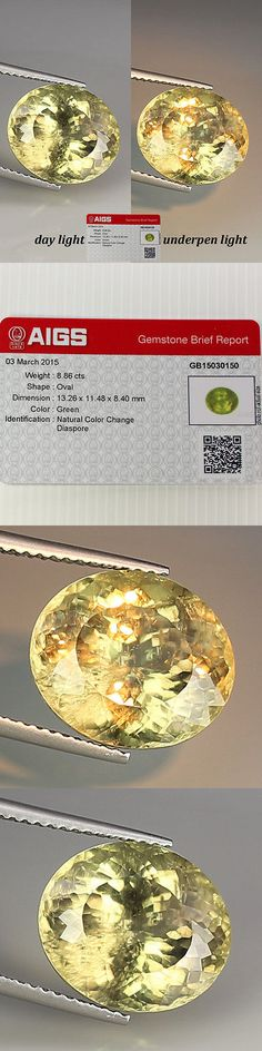 Diaspore 164392: (Aigs Certified) 8.86 Ct Natural Color Change Diaspore Oval Gemstone See Vdo. -> BUY IT NOW ONLY: $999.99 on eBay!