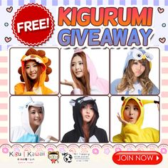 FREE LOVELY ONESIE GIVEAWAY ♥ It's raining lovely and kawaii~ Onesies! Want to win these Adorable Onesies? JOIN NOW ► http://on.fb.me/1QJ7btI Just simply follow the mechanics! 1 winner will receive 1 kigurumi of his/her own choice. Contest will run from February 25, 2016 - March 2, 2016. We will announce our winner on our newsletter and social media accounts on March 3, 2016. Good Luck!