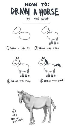 How to draw a horse - bahaha!  That is always how I felt with those tutorials.