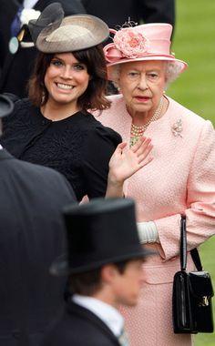 Princess Eugenie of York with Grandma (AKA Her Majesty Queen Elizabeth II) LOL!