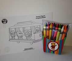 Swift Thinkin': Daniel Tiger Party Favors and a free template stamp if you subscribe to my blog!