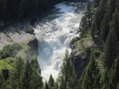 Lower Mesa Falls, Island Park, Idaho.  photo by Linda Swensen