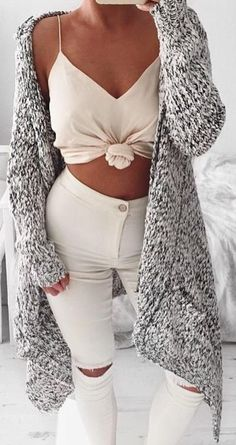 #summer #coolest #outfits | Slouch Marle Knit + Light Neutrals