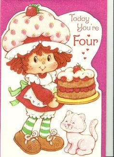Strawberry Shortcake Greeting Cards - Birthday - Numbered @ Toy-Addict.com