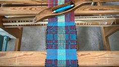 Rep weave mug rugs. Cottolin and stringyarn.