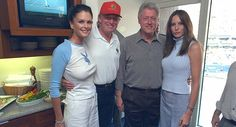 New photos show Bill Clinton yukking it up with Trump, Melania, and woman in Playboy shirt