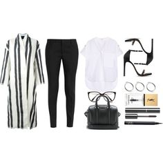 Kendall Inspired for the Office by robinheera16 on Polyvore featuring Helmut Lang, Erika Cavallini Semi-Couture, Yves Saint Laurent, Stuart Weitzman, Givenchy, NARS Cosmetics, Victoria Beckham and Chanel