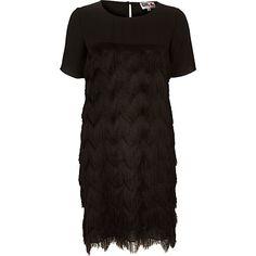 Black Chelsea Girl fringed dress