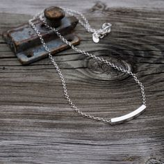 Silver Bar Necklace - Sterling Silver - Silver Bar Necklace - Everyday - Classic - sterling silver bar necklace - modern - layering necklace by Bellabagu on Etsy https://www.etsy.com/listing/217598480/silver-bar-necklace-sterling-silver