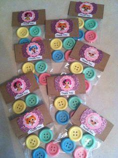Button Soap Favors (10 Favors) Lalaloopsy soaps, party favors, lalaloopsy favors