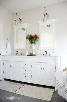 One Room Challenge: DIY Bright White Master Bathroom  Remingtonavenue.com