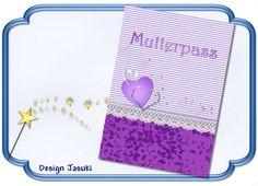 Mutterpass lila Herz von Jasuki auf DaWanda.com