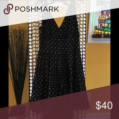 Flowing mid length black & white polka dot dress Beautiful and almost new! Macy's Style & Co Dresses Midi