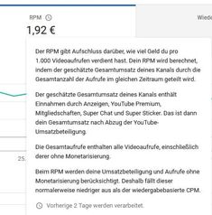 YouTube News Today - Neue Features in YouTube Analytics RPM - Revenue per Mille  Seit heute zeigt YouTube in den Analytics neben dem bisherigen CPM Wert nun auch den RPM Wert an. Rpm, Youtube News, Youtuber, Videos, Amazing, Advertising Ads, Not Interested, Tips And Tricks