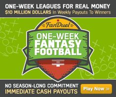 http://www.fanduelpartner.com $10 million in prizes daily starting at $ 1 as seen on FoxSports ESPN Wall Street Journal Forbes