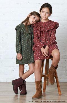 b4ba30c01e vestido con volantes Little Girl Fashion, Kids Fashion, Little Girl  Dresses, Girls Dresses