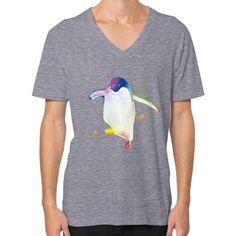 Psychedelic Penguin V-Neck (on man)