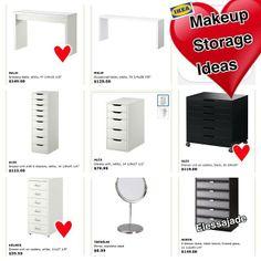 Ikea storage for makeup ideas