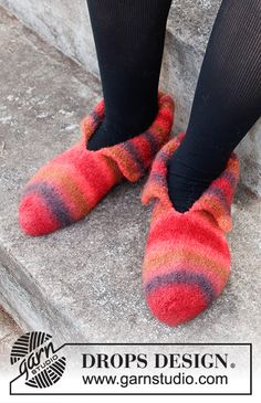 Knitted Socks Free Pattern, Knitting Socks, Knitting Patterns Free, Free Knitting, Crochet Patterns, Drops Design, Magazine Drops, Felted Slippers, Labor