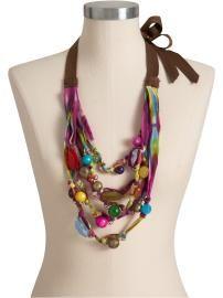 old navy mixed media necklace