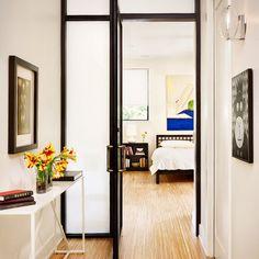 Modern Home Aluminum Metal Frame Glass Doors