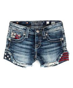 This Medium Wash Stars & Stripes Shorts - Girls is perfect! #zulilyfinds