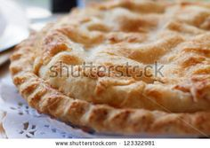 Pi Day : apple pie closeup