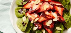 Check out this Strawberry Salad with Chocolate Vinaigrette recipe featuring Purdys chocolates. Balsamic Vinegar Dressing, Vinegar Salad Dressing, Red Wine Drinks, Spinach Salad, Baby Spinach, Peanut Butter Fingers, Sliced Almonds, Gorgeous Cakes, Strawberry Recipes