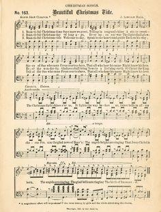 FREE Printable Christmas Music Pages ~~~via http://knickoftimeinteriors.blogspot.com/