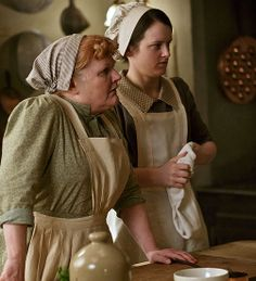 """'Downton Abbey' Season 4  Lesley Nicol and Sophie McShera as Mrs. Patmore and Daisy Mason in """"Downton Abbey"""""""