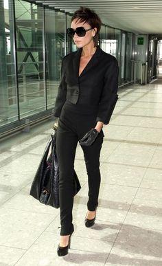 Victoria Beckham airport style