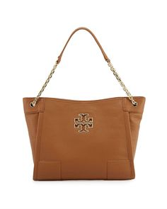 Tory Burch Britten Small Slouchy Tote (Bark)  Handbags  Amazon.com Brown 8c99ddf37e62a