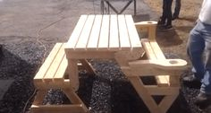 This Folding Picnic Table Is the Next Great Thing for That Backyard Barbecue [VIDEO]