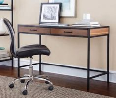 Industrial Desk Writing Student Table Computer Office Pc Workstation Furniture #IndustrialDeskWriting #Industrial