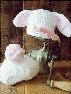 Children's Crochet Bunny Hat and Bloomer Set