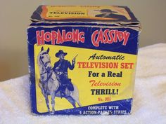 VINTAGE MECHANICLE TOY TELEVISION HOPALONG CASSIDY 1940s AUTOMATIC TOY COMPANY  #AutomaticToyCompany #AutomaticToyCompany