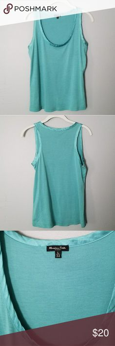 Massimo Dutti Silk and Wool Tank Sea green racerback tank with silk trim. Silk, cotton, and wool blend. Like new condition. Size L. Massimo Dutti Tops Tank Tops