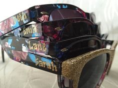 Personalized Bachelorette Floral Sunglasses by GreenBridalBoutique