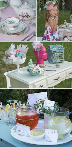 Decorating and party game ideas, mother and daughter tea party