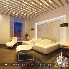 Luxury Master Bedroom design from CASAPRESTIGE  #luxury #Masterbedroom #design #casaprestige www.casaprestige.ae Villa Design, House Design, Exterior Design, Interior And Exterior, Master Bedroom Design, Luxury Interior Design, Floor Chair, Elegant, Furniture