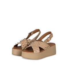 Beige, Sandals, Shoes, Products, Fashion, Riveting, Moda, Shoes Sandals, Shoe