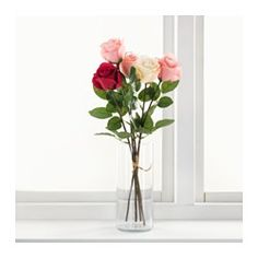 IKEA - SMYCKA, Artificial flower, Lifelike artificial flower that remain just as fresh-looking and beautiful year after year.You can bend and adjust the flower any way you want because of the steel wire in the stem.The stem can be shortened by means of cutting pliers.